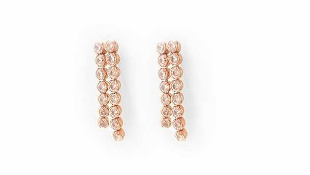 Bezel earrings ♥