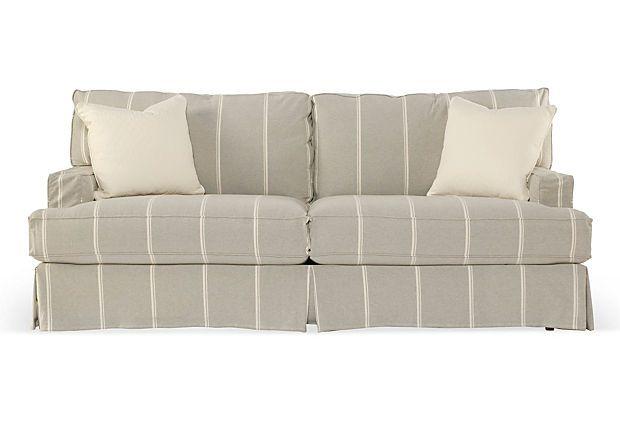 "One Kings Lane - Laid-Back Luxuries - Standard 84"" Sofa"