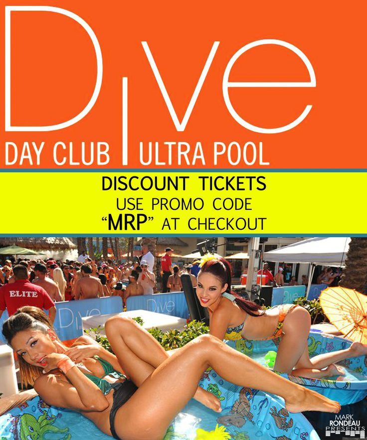 """Discount DIVE DAY CLUB & NEON NIGHTS use PROMO CODE """"MRP"""" at checkout for 10% OFF! (www.DayClubTickets.com/affiliate/MRP & www.DiveNeonNights.com)!!! And remember to see www.MRP.club or www.MarkRondeauPresents.com for upcoming events! [#SanDiego #SD #DJLife #DiveDayClub #EDM #HouseMusic #SixOneNine #Gaslamp #EDMSD #MarkRondeauPresents #Daygo #GaslampQuarter #DiveSoCal #DTSD #NeonNights #DiveNeonNights #SDGoGo #619 #Dive #SDSU #SDDJ #LaJolla #DowntownSD #UCSD #Harrahs #SDNightlife #DiveDolls]"""