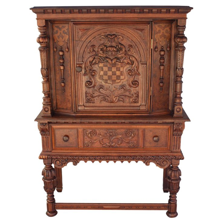 Beautifully Carved Cabinet By Berkey And Gay
