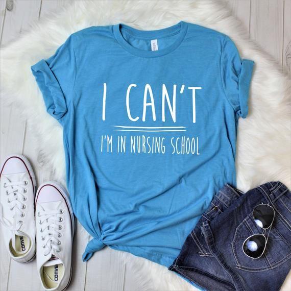 Nursing School Shirt Gift For Nursing School Students Rn Etsy Teacher Shirts Girls Trip Shirts School Shirts