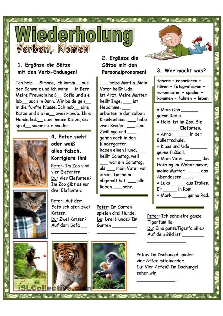 84 best LEARN GERMAN - vezbe images on Pinterest | German language ...