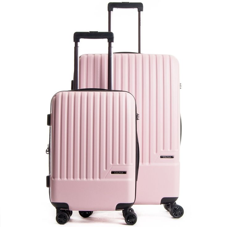 This durable and attractive two-piece luggage set offers style and storage for an overnight trip or an extended journey. The CALPAK Davis luggage set is designed with 8 multi-directional spinner wheel