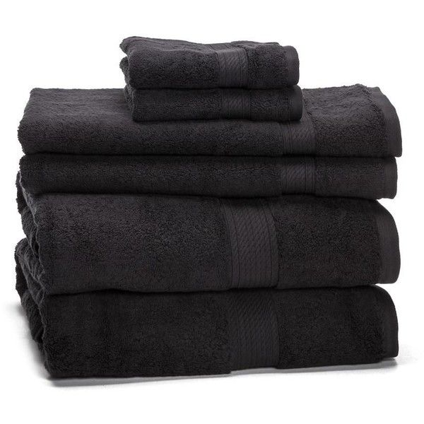 eLuxurySupply 900 Gram 6-Piece Egyptian Cotton Towel Set (1,490 MXN) ❤ liked on Polyvore featuring home, bed & bath, bath, bath towels, egyptian cotton hand towels, patterned hand towels, patterned bath towels, egyptian cotton towel set and egyptian cotton bath towels