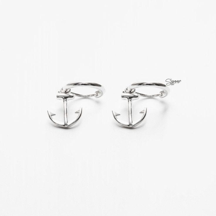 Anchor Earrings - Handmade Sterling Silver 925 - Tonkin Jewelry
