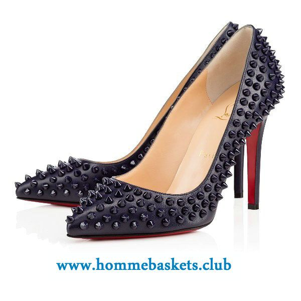 taille 40 7d044 bd1cd Christian Louboutin Femme Pigalle Spikes Kid 100 mm ECLIPSE ...