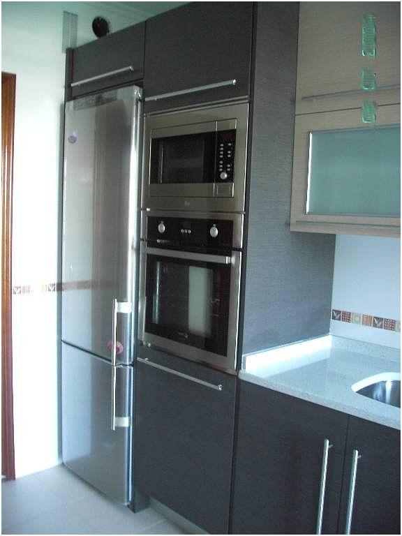 Mueble Horno Y Microondas Elegante Media Columna Horno Microon Decoracion De Cocinas Sencillas Muebles De Cocinas Pequenas Decoracion De Interiores Minimalista