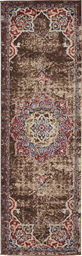 Cheap Vintage Inspired Overdyed Distressed Fancy Chocolate Brown 2 x 6 FT (61cm x 185cm) Runner St. James Medallion Area Rug Traditional Persian Design https://arearugsforlivingroom.info/cheap-vintage-inspired-overdyed-distressed-fancy-chocolate-brown-2-x-6-ft-61cm-x-185cm-runner-st-james-medallion-area-rug-traditional-persian-design/
