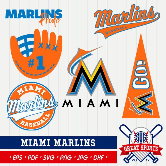 Miami Marlins SVG, Marlins Beisball Clipart, Miami Marlins DXF, Baseball Clipart, Miami Marlins Clipart,Clipart SVG, mb-10