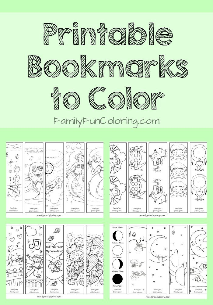 Printable Bookmarks to Color #coloringpages #printables