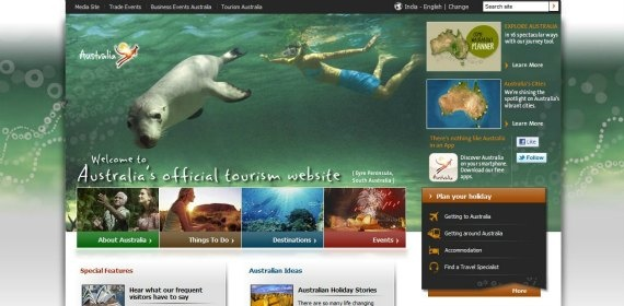 Australia - a whole host of language options, including variations of English, such as New Zealand English  http://www.australia.com/