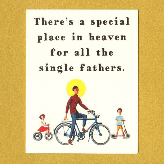 SINGLE DAD FATHER'S Day  Funny Sweet Father's Day by seasandpeas, $3.75