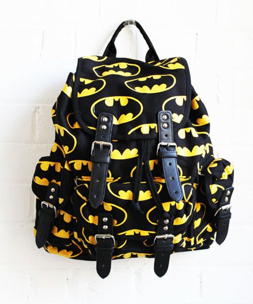 batman clothing - Google Search Batman backpack!