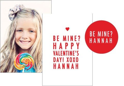 simply stated...be mine valentine's photo card & sticker set