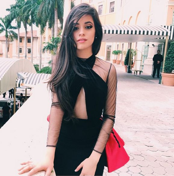 Camila Cabello Looked Glamorous In A Long Flowing Black Dress At Latin Billboard Awards 2015 - http://oceanup.com/2015/05/04/camila-cabello-looked-glamorous-in-a-long-flowing-black-dress-at-latin-billboard-awards-2015/