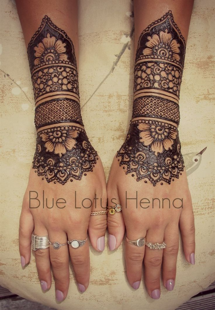 henna cuffs - the next big thing in bridal mehndi for Indian weddings 2015