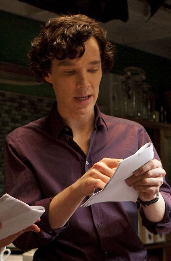 Benedict Cumberbatch behind the scenes of #Sherlock series 1