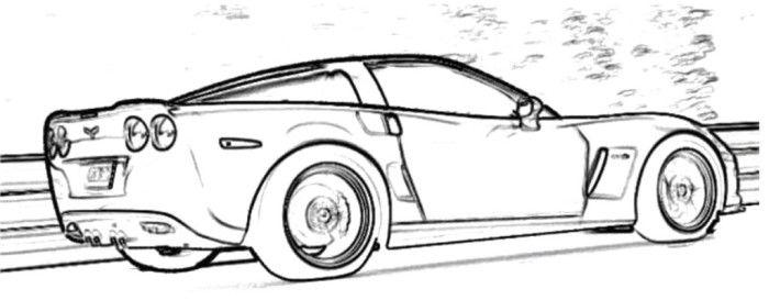 corvette coloring page | Coloring Pages