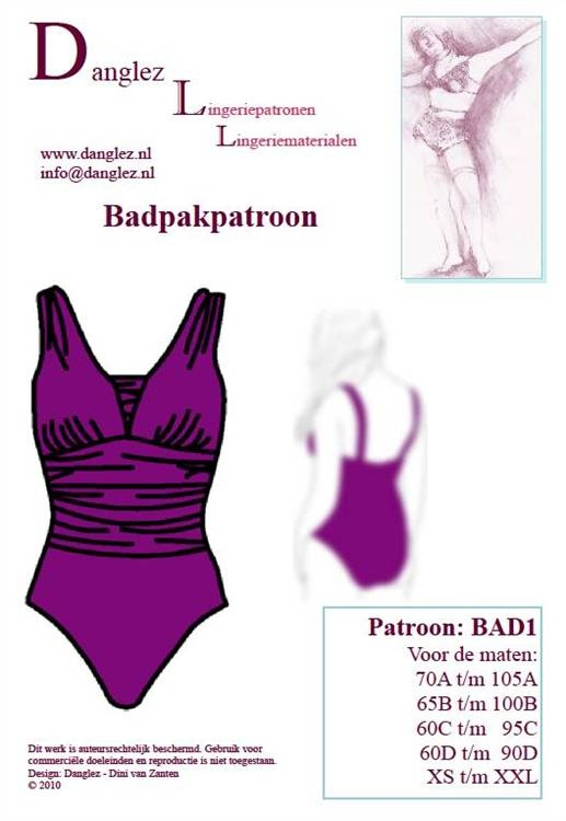 Danglez swimsuit pattern BAD1E I like the top of this one. I could turn it into a tankini...