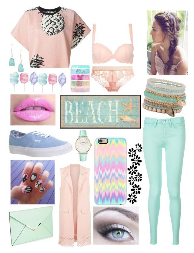 """Pastel//Idek"" by explicitexposa ❤ liked on Polyvore featuring MSGM, Tommy Hilfiger, Cameo Rose, Vans, Casetify, ALDO, Cotton Candy, Kendra Scott, Cosabella and Heidi Klum Intimates"
