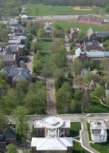 Wabash College-It looks sort of a community. It looks socializing.