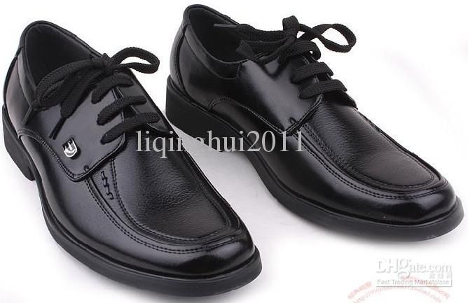 High quality black dress shoes men's business casual shoes groom ...