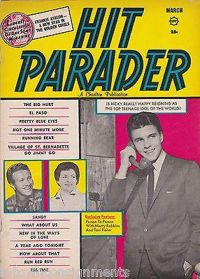 HIT PARADER AL KOOPER RICKY NELSON MARTY ROBBIN VINTAGE MUSIC SONG MAGAZINE 1960