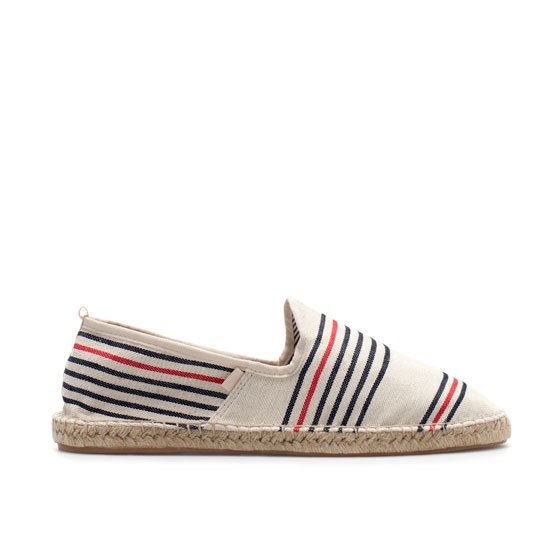 STRIPED ESPADRILLE - Shoes - Man - ZARA Portugal