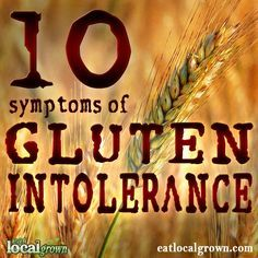 10 Symptoms of Gluten Intolerance with information on how to test and advice on treatment. By Dr. Amy Myers...