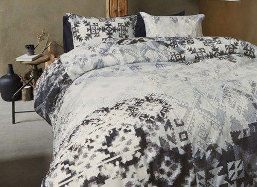 grijs/zwart/wit dekbed overtrek, morpheus beddengoed