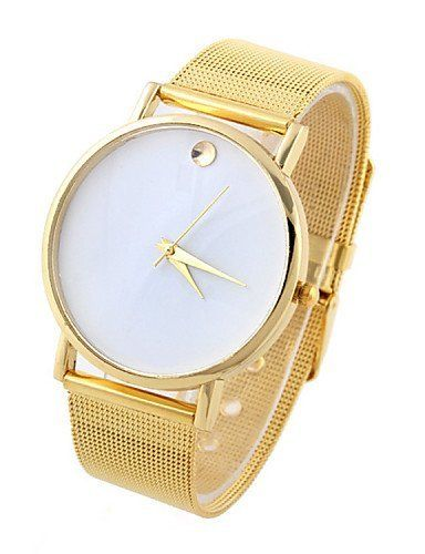 SKLIT weibliche goldene dot Quarzuhr mit Stahlnetz Band - http://uhr.haus/sklit-watches/sklit-weibliche-goldene-dot-quarzuhr-mit-band