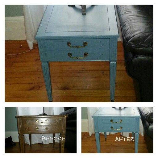 I love paint!  Another thrift store find. $8 end table.