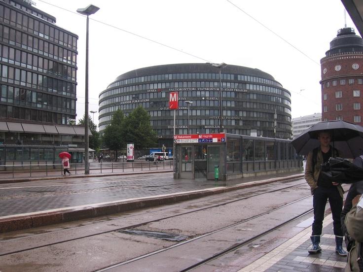 A round office building in Helsinki Hakaniemi