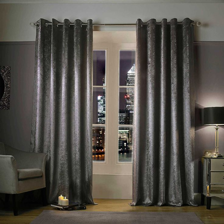 Kylie At Home Adelphi Pair Of Eyelet Lined Curtains