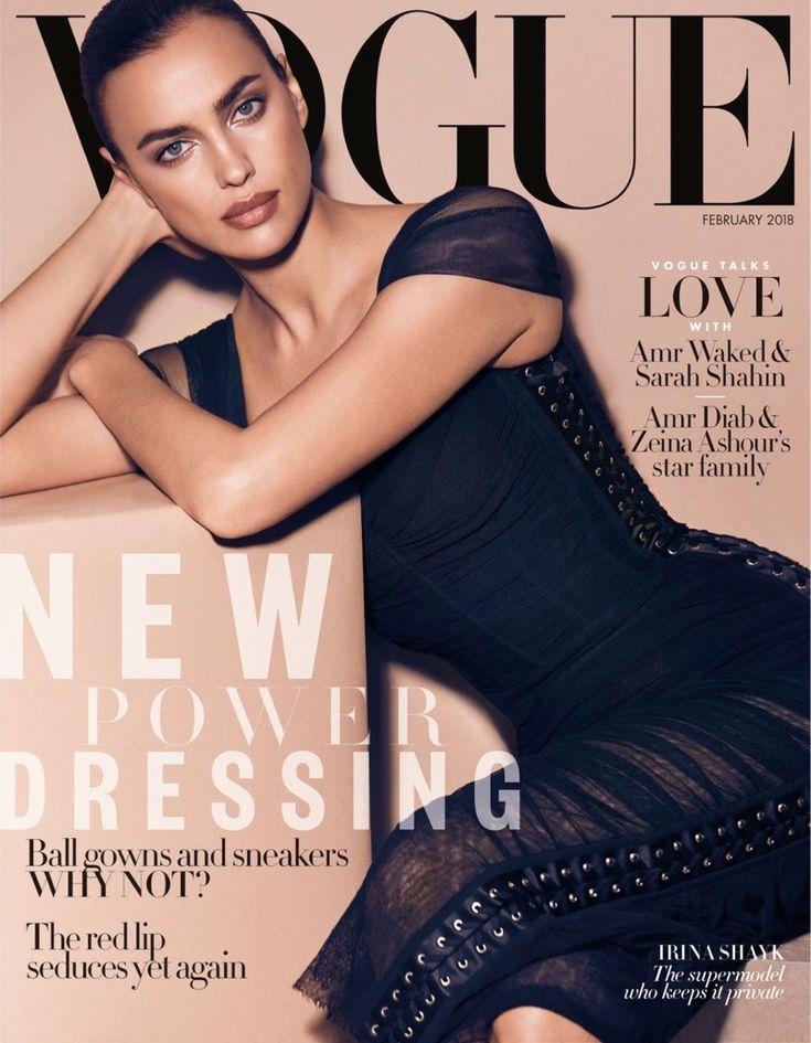 Irina Shayk | Black Ladylike Editorials | Vogue Arabia Cover