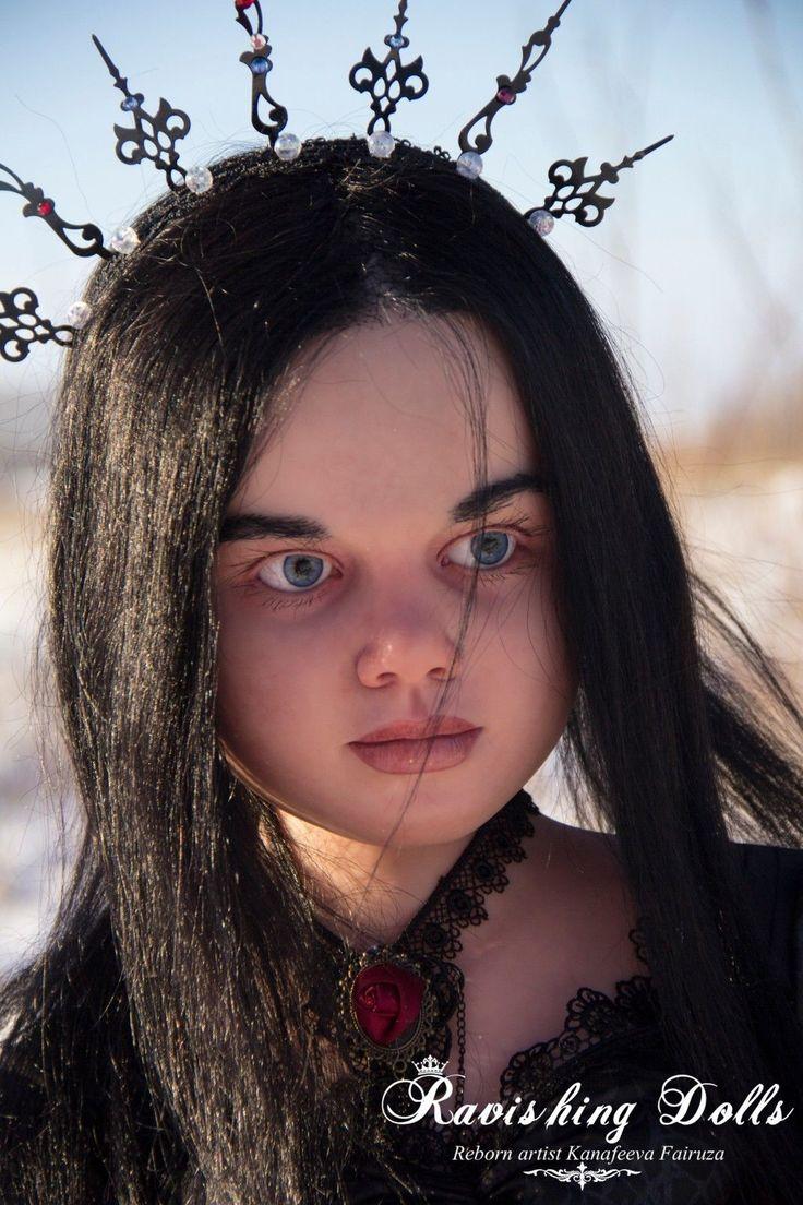 Amazing Goth Tattoo Reborn Gabriella Doll by R Schick Rooted Eyebrows Eyelashes | eBay