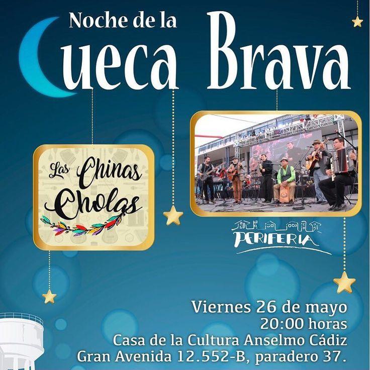 Este viernes 26 de mayo no te pierdas la Noche de la Cueva Brava en nuestra casa de la Cultira Anselmo Cádiz. 20:00 horas. Entrada Liberada