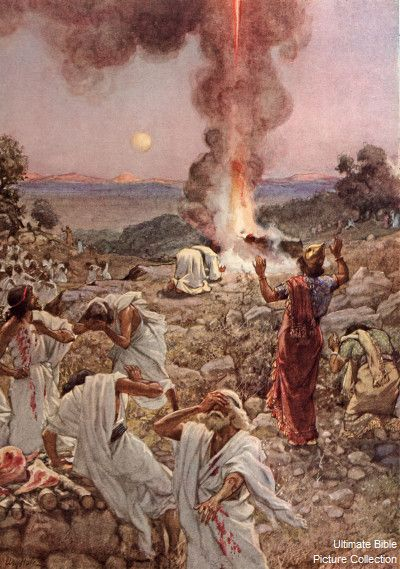 Elijah Calls For Fire From Heaven. - 1st Kings 18:38