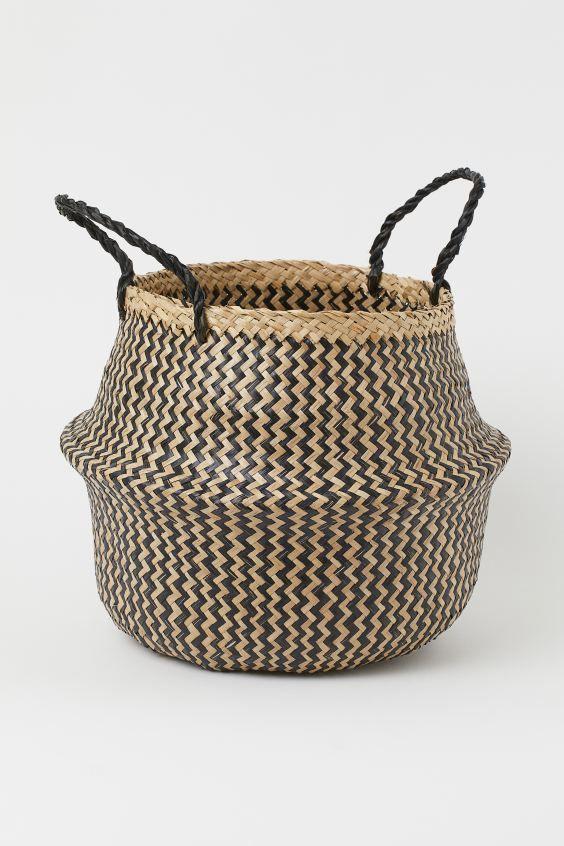 Folding Basket In 2020 Basket Beige Wicker Laundry Basket