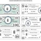This Classroom Currency system includes everything a teacher needs to install a classroom money system. A ready to use PDF template includes $1, $5...