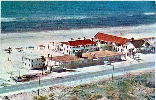 Old Dutch Motel aerial view, Panama City Beach