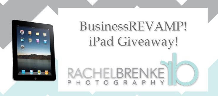 iPad giveaway + FREE Marketing/Biz Tips for photogs!
