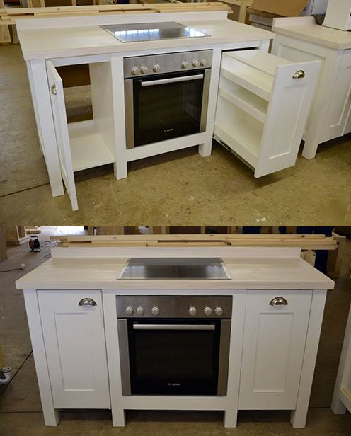 Simple Kitchen Unit: Swedish Style, Free Standing Kitchen Units And