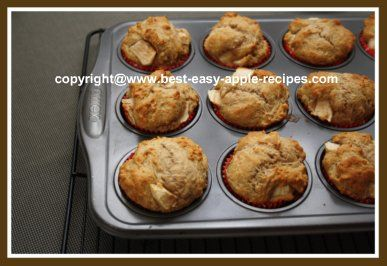 This HEALTHY Cinnamon Apple Muffins Recipe with pictures is quick and easy and is a great idea for a nutritious apple snack or breakfast muffin.