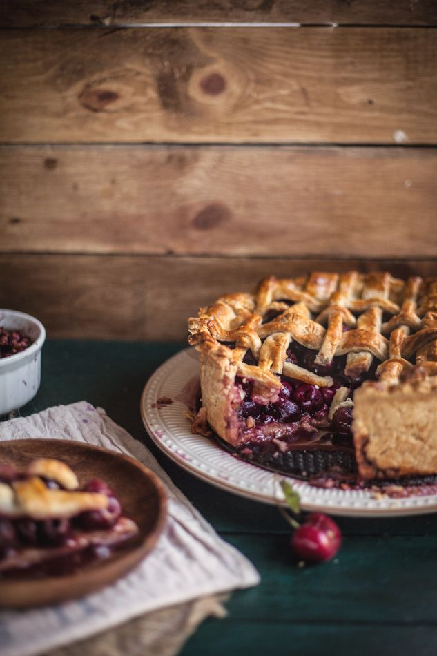 Adventures in Cooking: Balsamic Cherry Pie with a Black Pepper Crust, Plus a Melina's Giveaway!