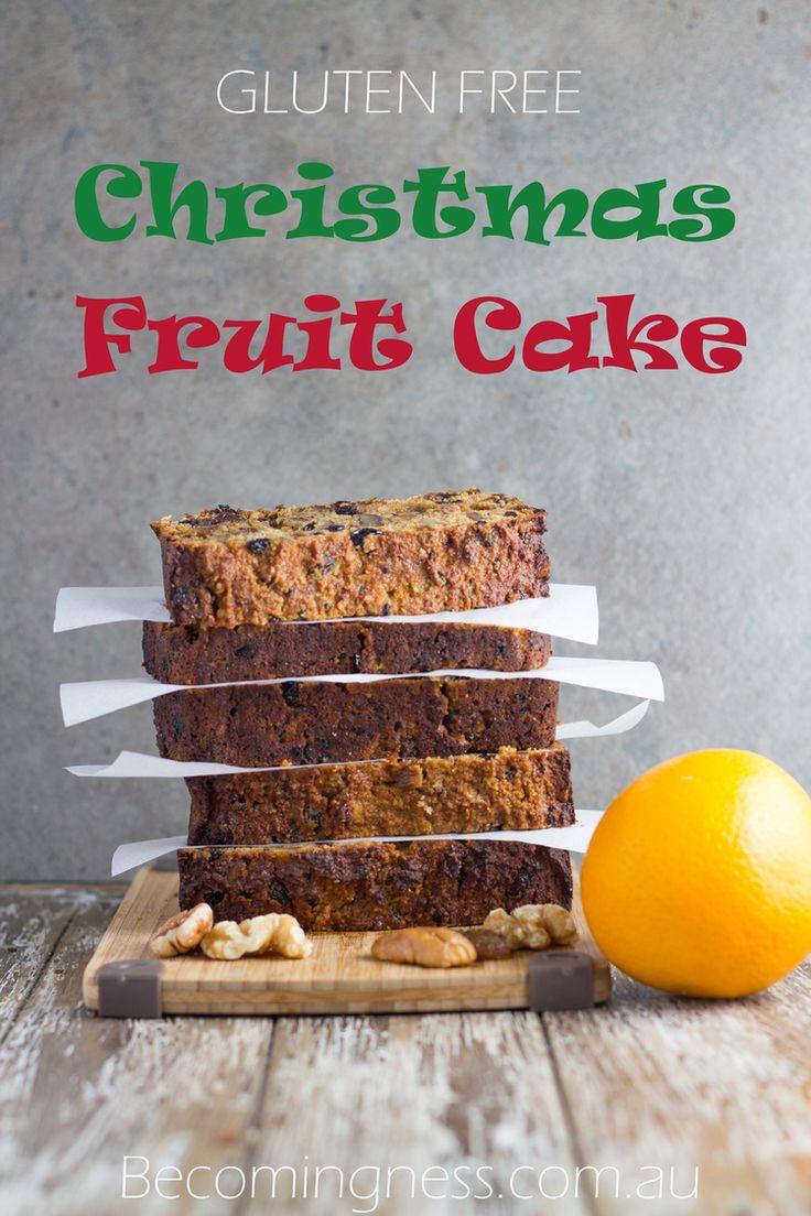 Gluten Free Christmas Fruit Cake - gluten, dairy and refined sugar free