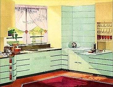 art deco kitchens   art deco streamline moderne kitchen painted green 49 best art deco kitchens   u003d  images on pinterest   art deco      rh   pinterest com