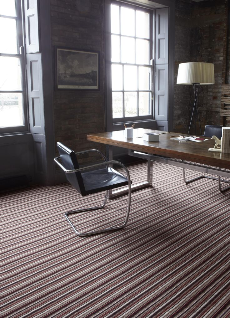 Alternative flooring striped carpet.
