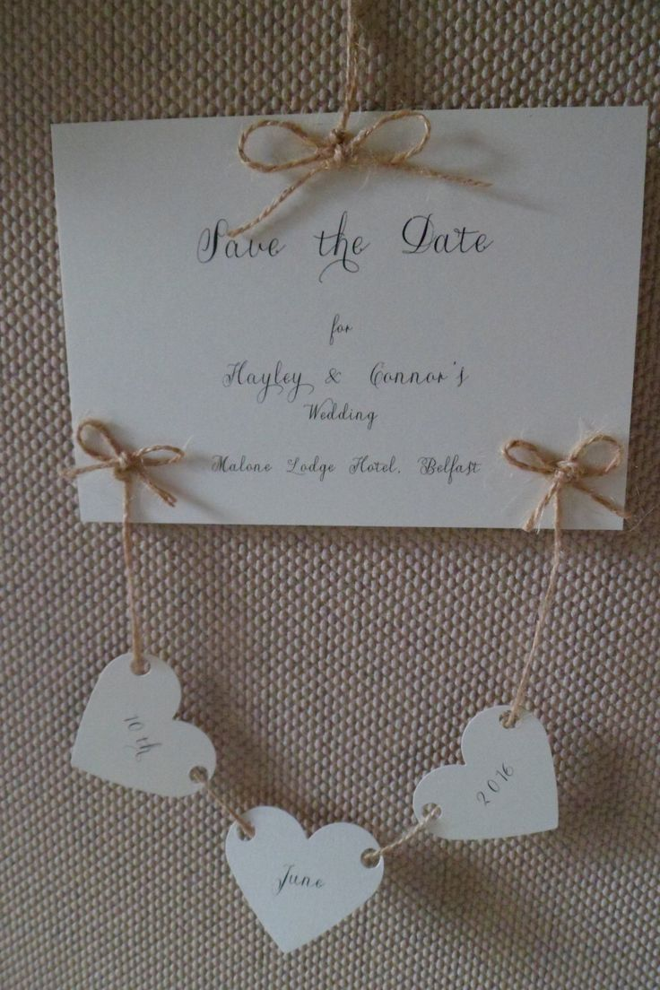 A personal favourite from my Etsy shop https://www.etsy.com/uk/listing/251720314/rustic-love-hearts-save-the-date-card