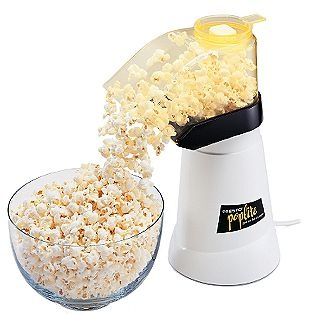 3 cups of air popped popcorn sprinkled with 4 tsp parmesan cheese is only about 140 calories-and filling! There's no need for salt b/c the cheese is salty.